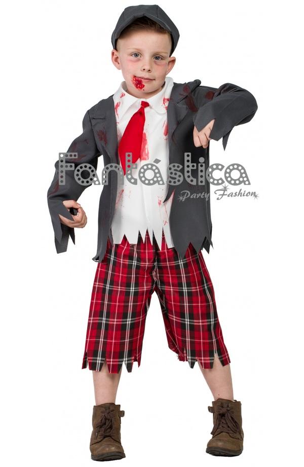 5293aa565 Chulísimo y divertido Disfraz para Niño Colegial Zombie, perfecto para  Carnaval, Halloween, fiestas de disfraces, actos escolares, espectáculos y  eventos ...