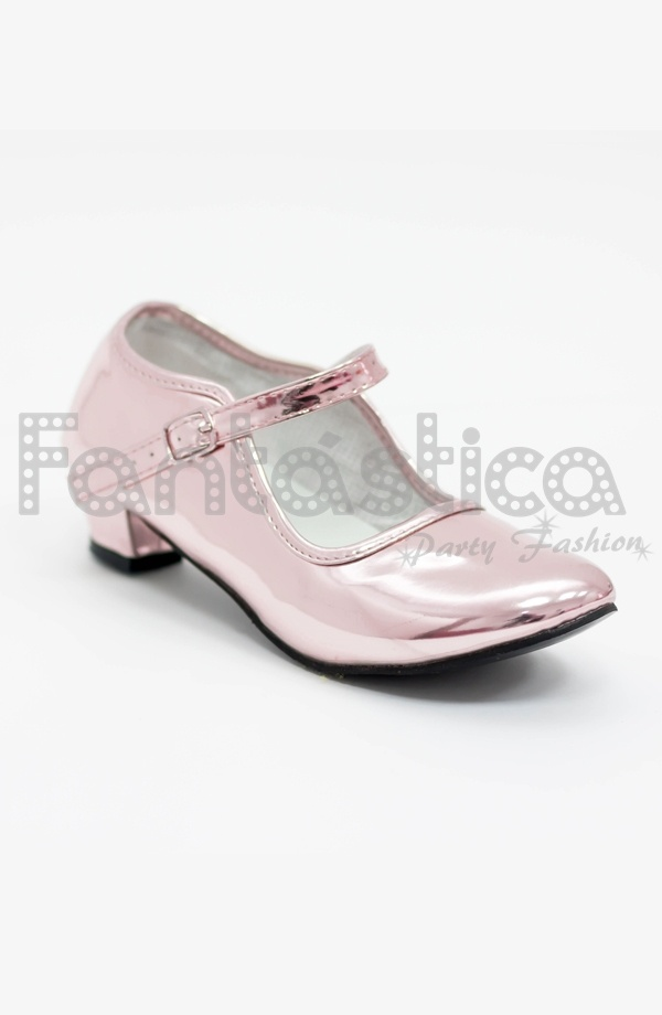 comprar online 39dd5 aad65 Zapatos Color Oro Rosa Acabado Espejo - Tallas para Niña y Mujer