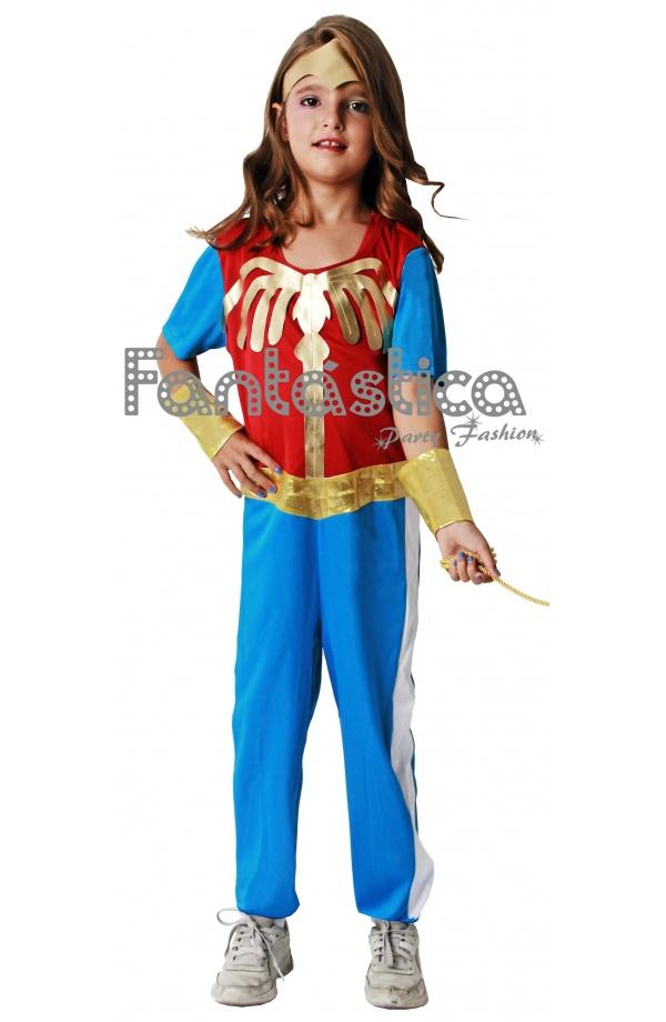 Guapísimo Disfraz para Niña de Wonder Woman - Mujer Maravilla. Disfraz de  la heroína Wonder Woman. Tu peque lucirá guapísima con este disfraz para  jugar en ... f65501a4f2c