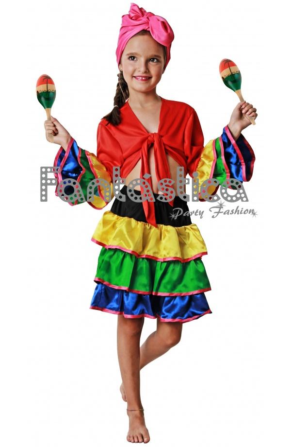 Disfraz Niña Para Bailarina Salsa Iii De rOATwrxnq