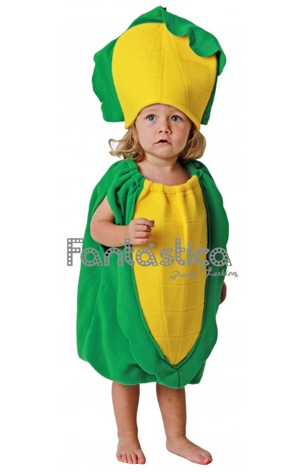 86cd0ea15e Disfraz para Niño y Niña Mazorca de Maíz. Alucinante y divertido disfraz de  flor maíz