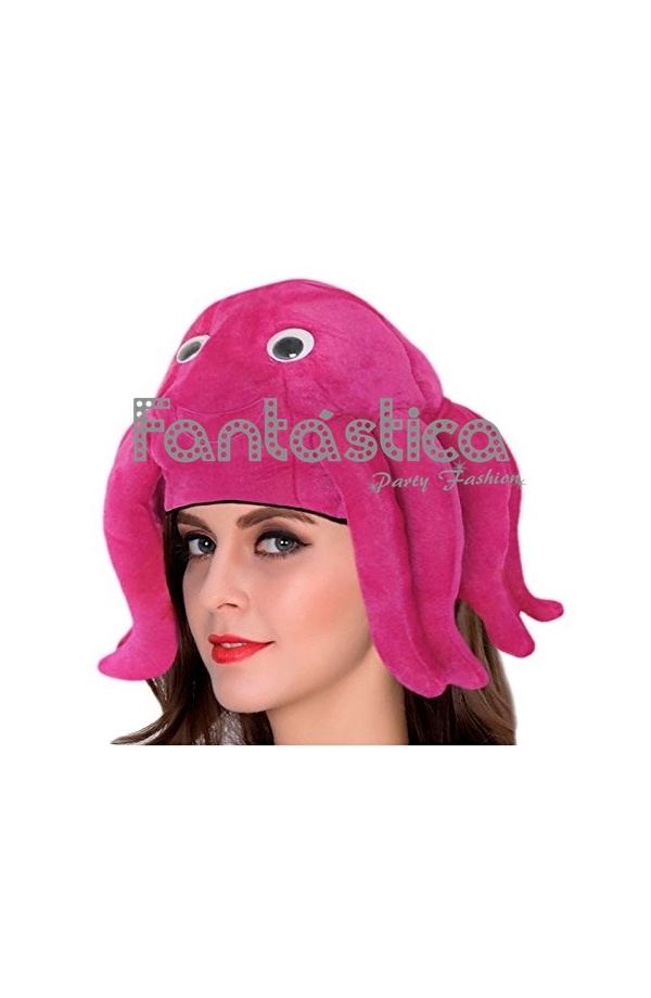 Divertido sombrero fucsia de Pulpo perfecto para Carnaval 21be7b38135