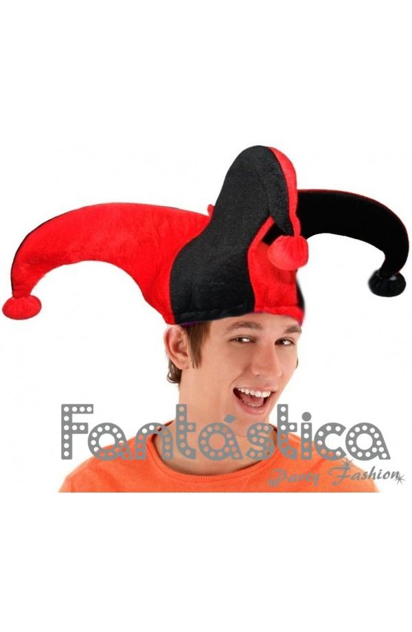 Chulísimo y simpático Gorro para Disfraz de Arlequín. Divertido sombrero de  Arlequín perfecto para Carnaval 5813e2f9fa9