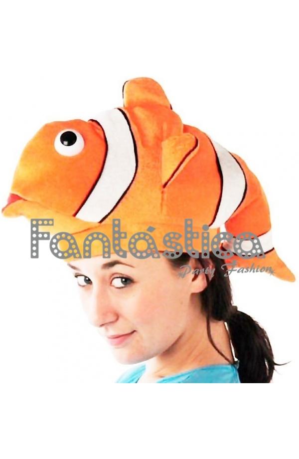 Chulísimo y simpático Gorro para Disfraz de Pez Payaso. Divertido sombrero  de Pecesito Nemo perfecto para lucir con tu disfraz en Carnaval ac4088ce208