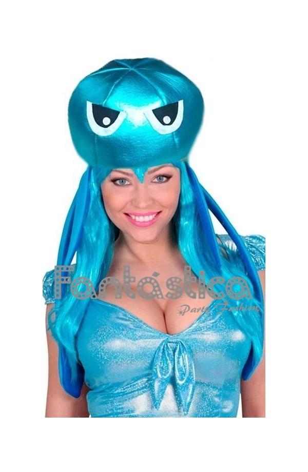 6e74fd05f Chulísimo y simpático Gorro para Disfraz de Pulpo. Divertido sombrero de  Pulpo perfecto para lucir con tu disfraz en Carnaval