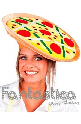 Chulísimo y divertido Sombrero para Disfraz de Pizza. Guapísimo y original  sombrero de Pizza perfecto para Carnaval 0b942a04ef1