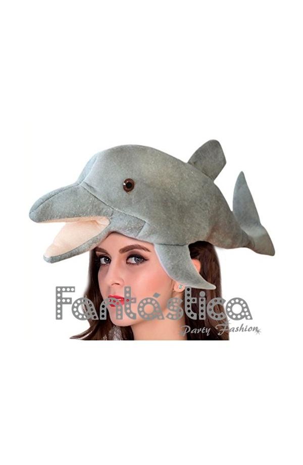 Divertido y simpático Gorro para Disfraz de Delfín. Gracioso y tierno gorro  de Delfín 0ca18187986