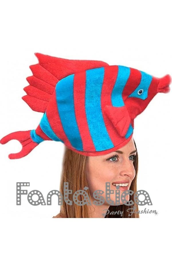 Divertido y simpático Gorro para Disfraz de Pez Tropical. Gracioso sombrero  de Pez Tropical perfecto para lucir con tu disfraz en Carnaval 86dc8c9846b