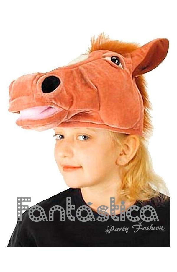 Chulísimo y divertido Gorro para Disfraz de Caballo. Simpático sombrero de  Caballo 31e2f94d75b