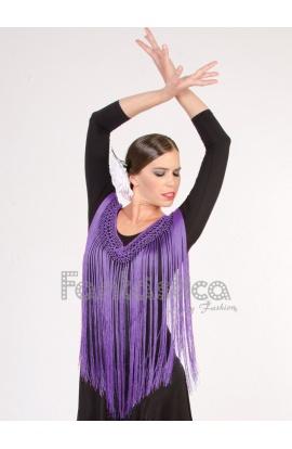 446000d69d Flecos para Trajes de Flamencas y Sevillanas - Flecos Color Violeta