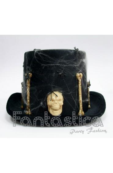 Sombrero de Halloween Calavera y Huesos entre Arañas 952cb62f882