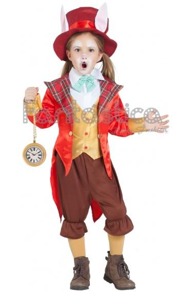 Disfraz para Niño y Niña Conejo Sombrerero de Alicia en el País de las Maravillas