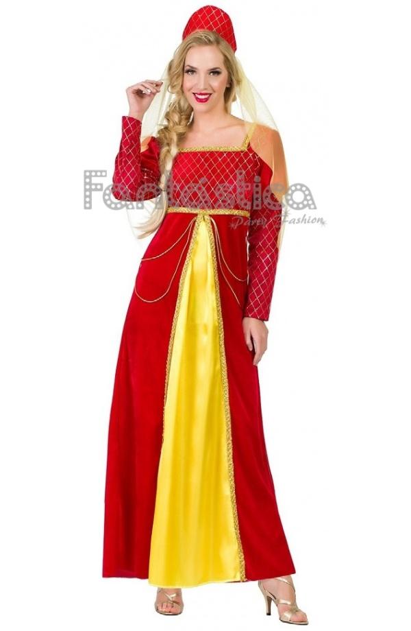 Disfraz para Mujer Reina Medieval. Guapísimo disfraz de Reina Medieval  perfecto para Carnaval 6ff02b3da103