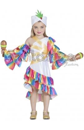 3fd8d6d0a Disfraz para Niña Bailarina Rumbera Salsa
