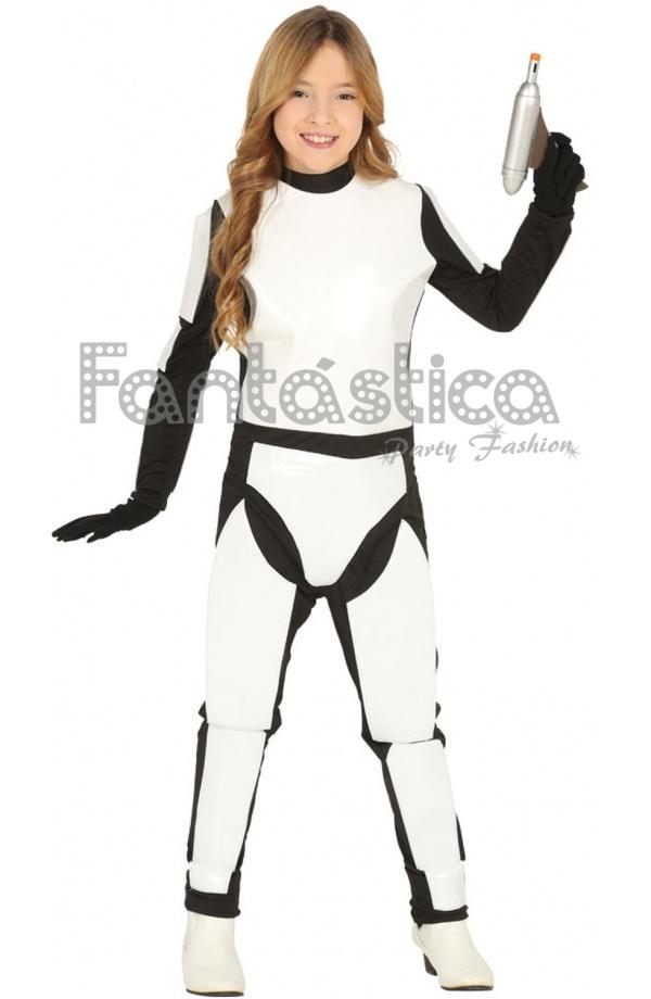 c509b8580 Guapísimo y divertido Disfraz para Niña y Niño de Soldado Espacial  Stormtrooper ideal para Carnaval, Halloween, fiestas de disfraces, fiestas  y actos ...
