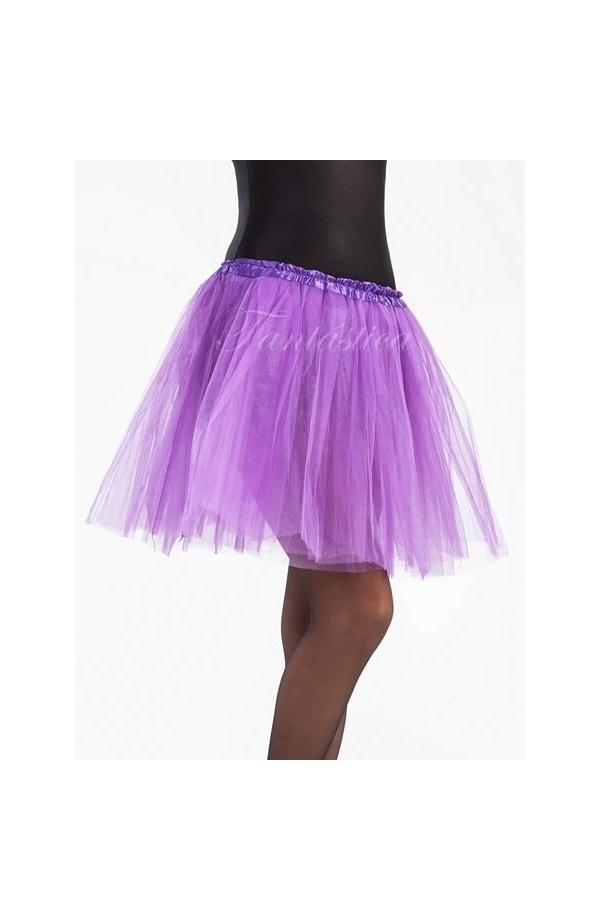 0104cec16a Tutú para Ballet y Danza Violeta. Falda Tutú de tul color violeta para niña  o mujer