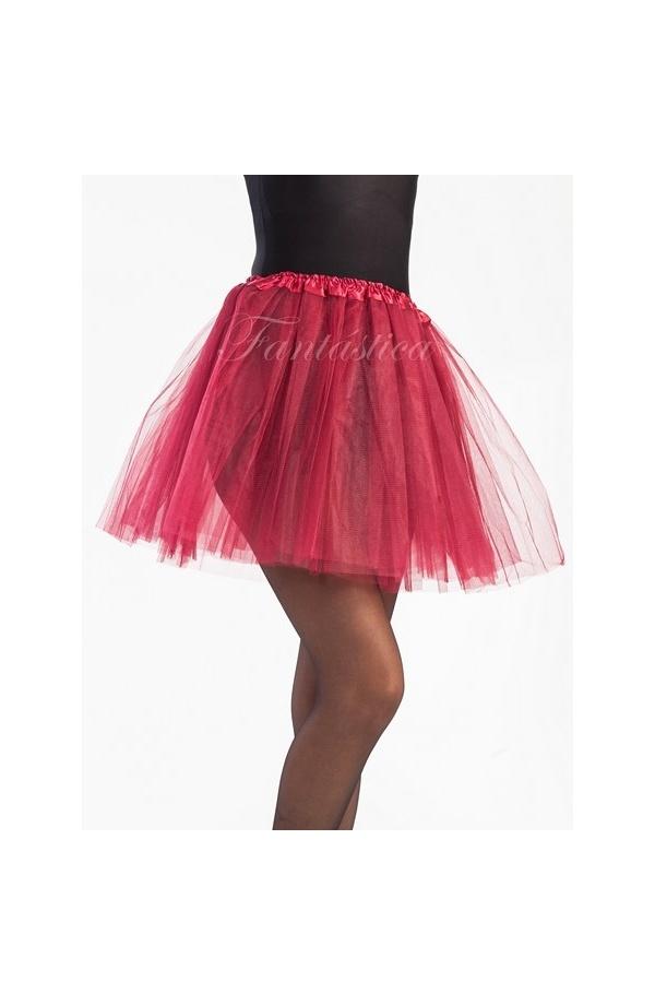 8ef299796 Tutú para Ballet y Danza - Falda de Tul para Mujer Color Rojo Burdeos