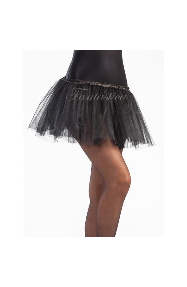 f03924022 Tutú para Ballet y Danza - Falda de Tul para Niña y Mujer Color Negro I