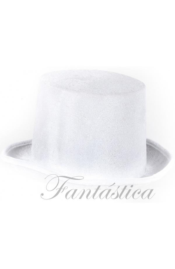 Sombrero de Copa para Fiesta o Disfraz Color Blanco bac4adfbadb7