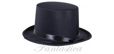 Sombrero de Copa para Fiesta o Disfraz con Cinta Color Negro b54f3e19fec