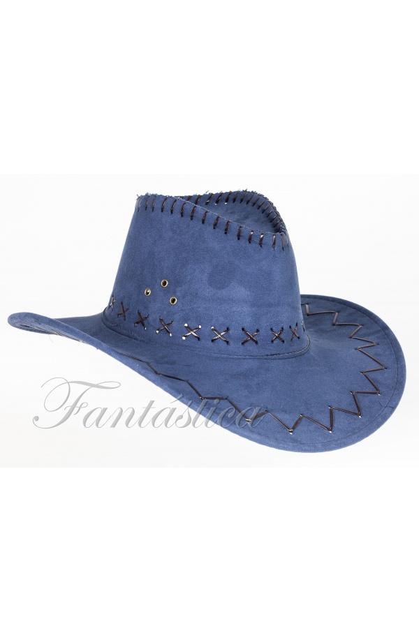 Sombrero Vaquero para Disfraz de Cowboy con Bordados Color Azul Oscuro  Vaquero c89908559f1