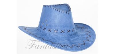 9d671cb9924db Color  Sombrero Vaquero para Disfraz de Cowboy con Bordados Color Azul  Claro Vaquero. Talla única. Ideal para lucir como un auténtico vaquero del  lejano ...