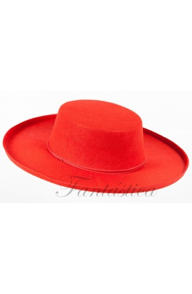 Sombrero Cordobés para Adulto Disfraz de Andaluz Color Rojo I ... ef6d5fc0bc3