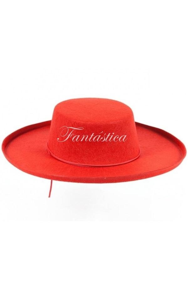 Espectacular Sombrero Cordobés para Adulto Disfraz de Andaluz en color rojo 87f8ca7f449