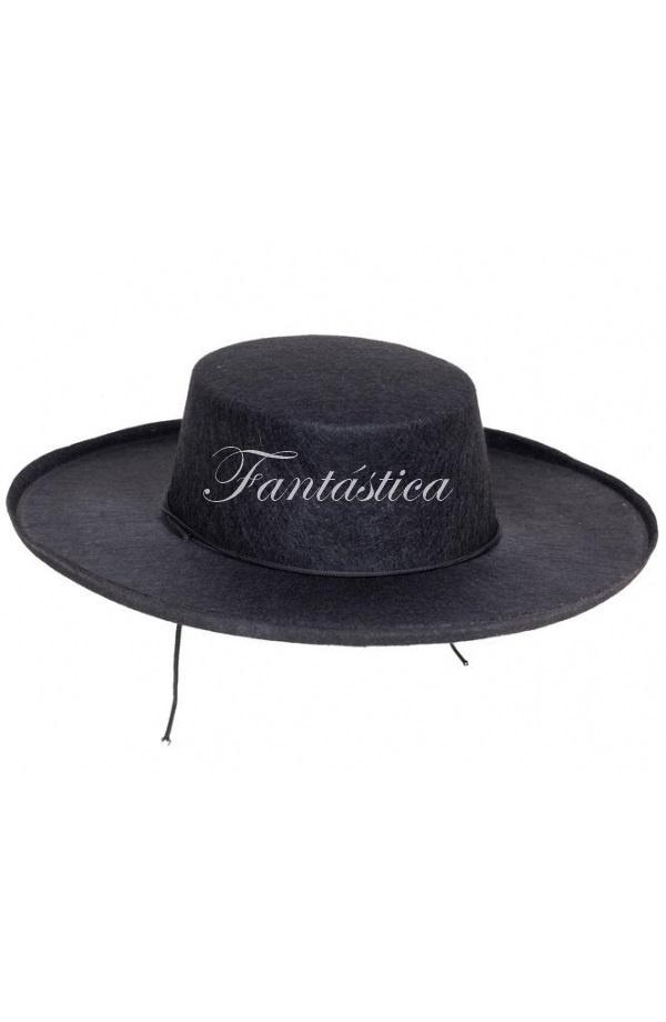Espectacular Sombrero Cordobés para Adulto Disfraz de Andaluz en color negro 47f8985f963
