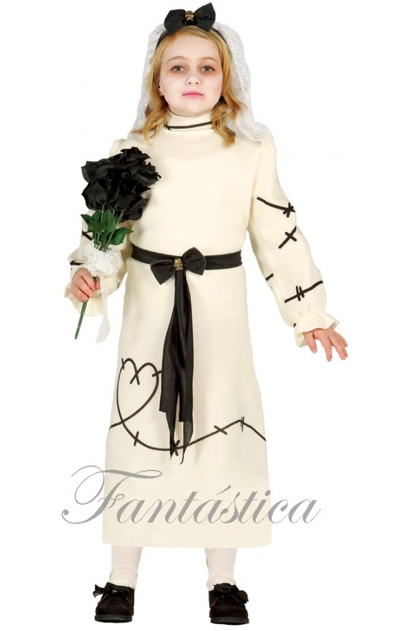 disfraz para niña novia de frankenstein