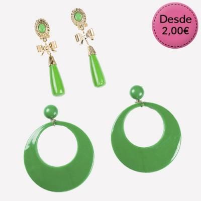 Pendientes Verdes para Flamencas y Sevillanas