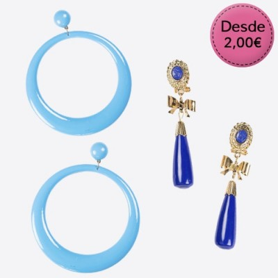 Pendientes Azules para Flamencas y Sevillanas