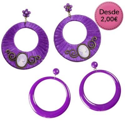 Spanish dance Flamenco purple earrings