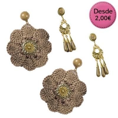 Spanish dance Flamenco brown earrings