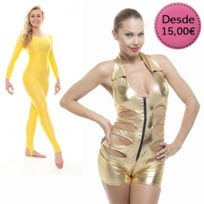 Monos elásticos Color Dorado y Amarillo
