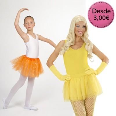 Tutús Color Amarillo y Naranja