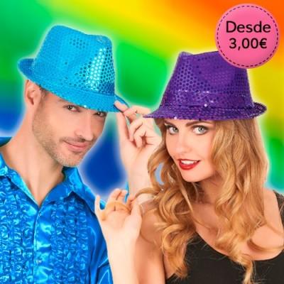 Sombreros y Diademas con Lentejuelas para Orgullo Gay