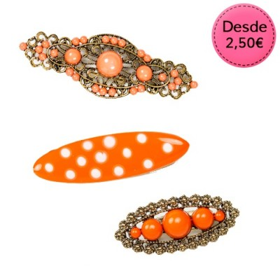 Broches Flamencos Color Naranja