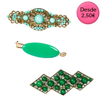 Broches Flamencos Color Verde
