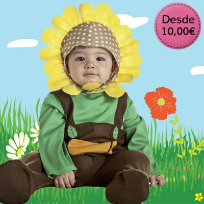 Flower, fruit and veggie costumes for babies