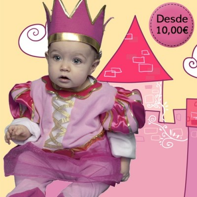 Prince and princess costumes for babies