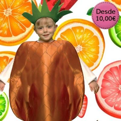 Flower, fruit and veggie costumes for boys
