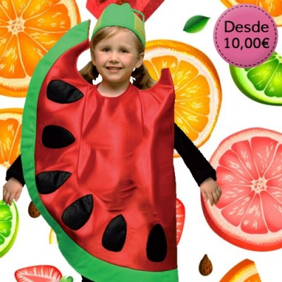 Flower, fruit and veggie costumes for girls