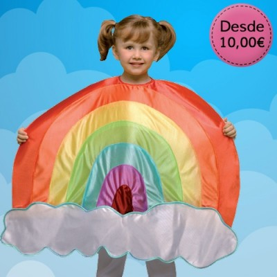 Sunshine, cloud and rainbow costumes for girls