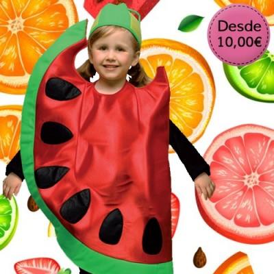 Flower, fruit and veggie costumes for girls
