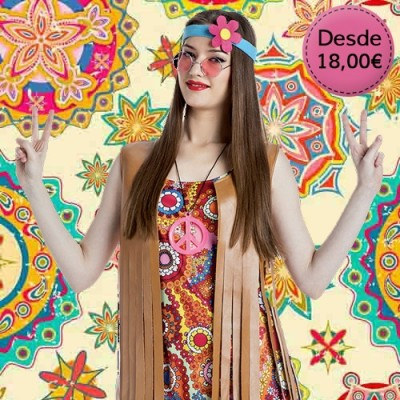 Hippie and rocker costumes for woman