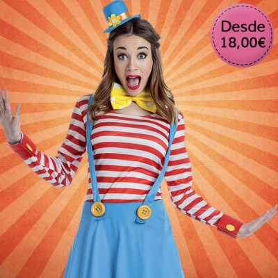 Clown and circus costumes