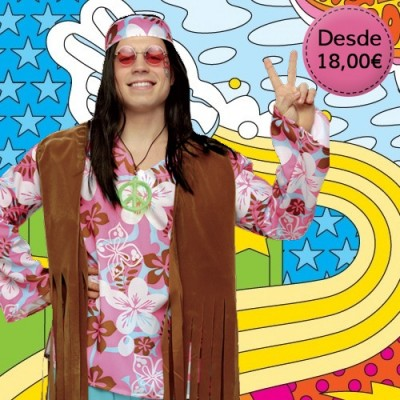 Hippie and rocker costumes for man