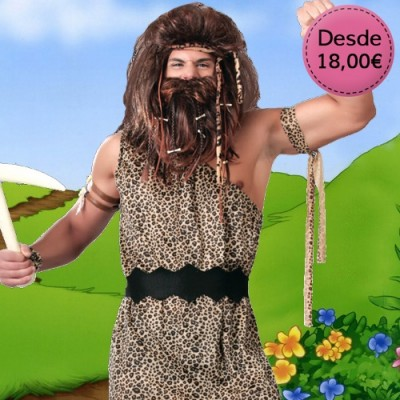 Caveman and troglodyte costumes for man