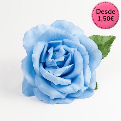 Spanish Flamenco blue hair flowers